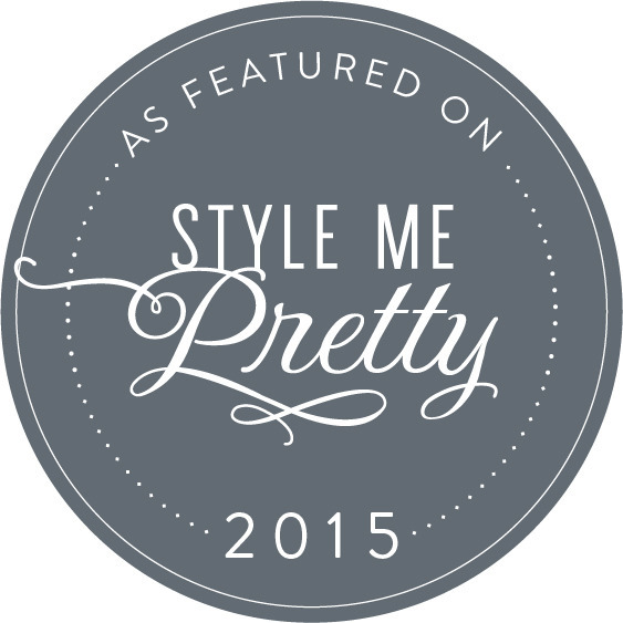 Style Me Pretty Featured 2015 Badge | Green Apple Event Co