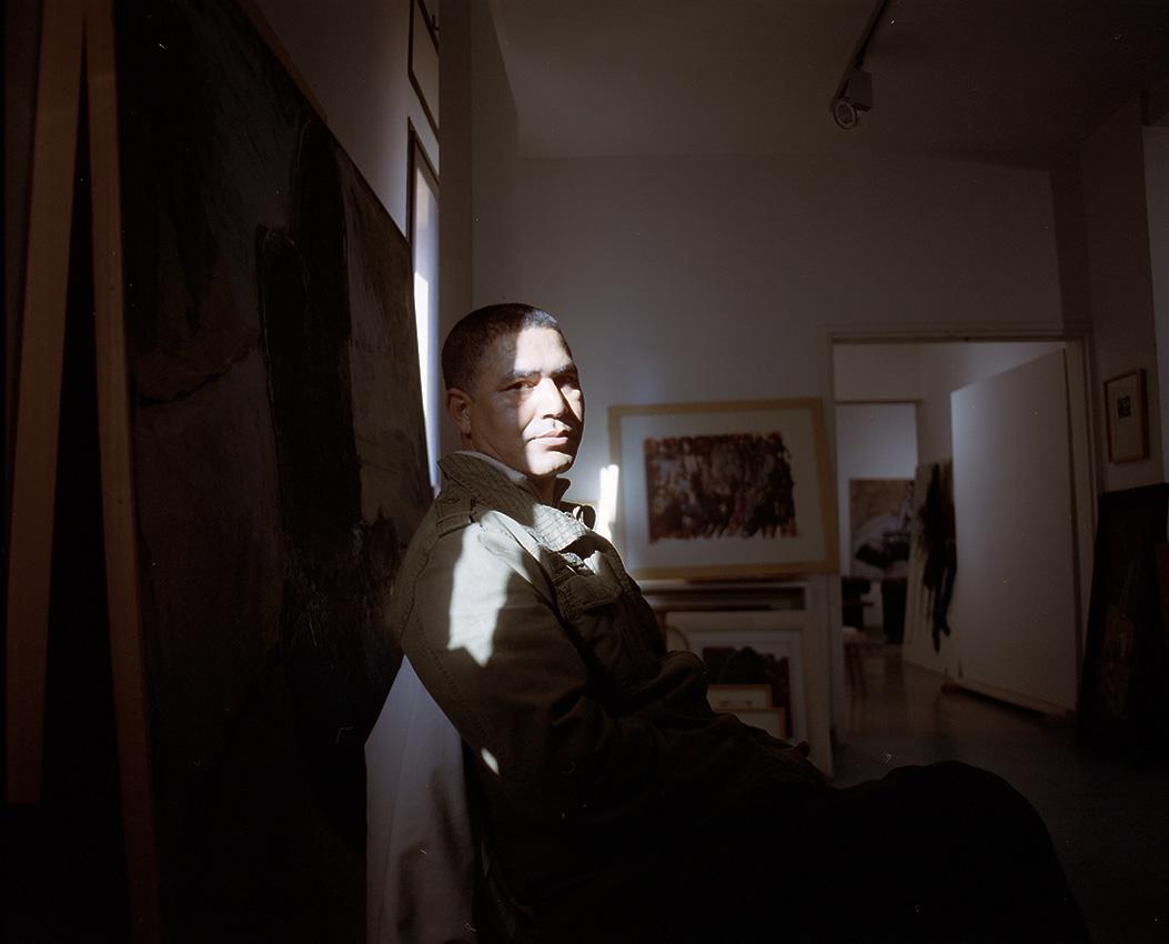 Youssef Elkahfai, painter.