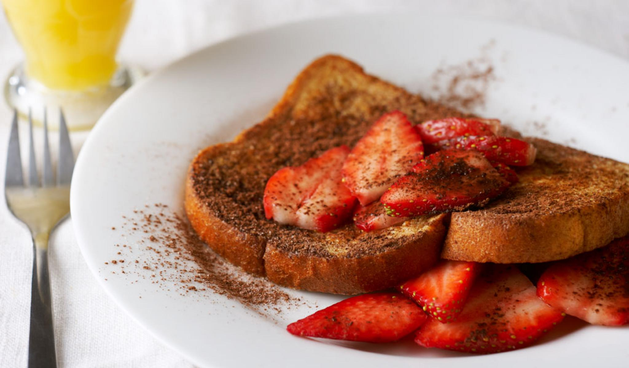 Chocolate Strawberry French Toast      Top with any of your favorite seasonal or frozen fruits.