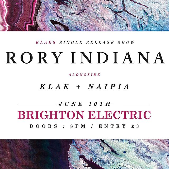 LISTEN UP 👂  We'll be supporting the lovely @weareklae on their single release show at Brighton Electric along side @wearenaipia  It's been a while, tickets will be limited so come turn up and see what we've been working on.⏳