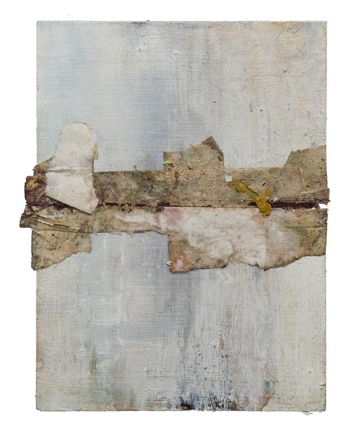 "detritus horizon   mixed media on paper, 4.5x6.25"", ND"