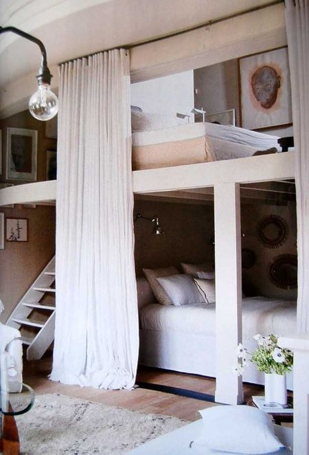 Materials girl blog- adult bunk room