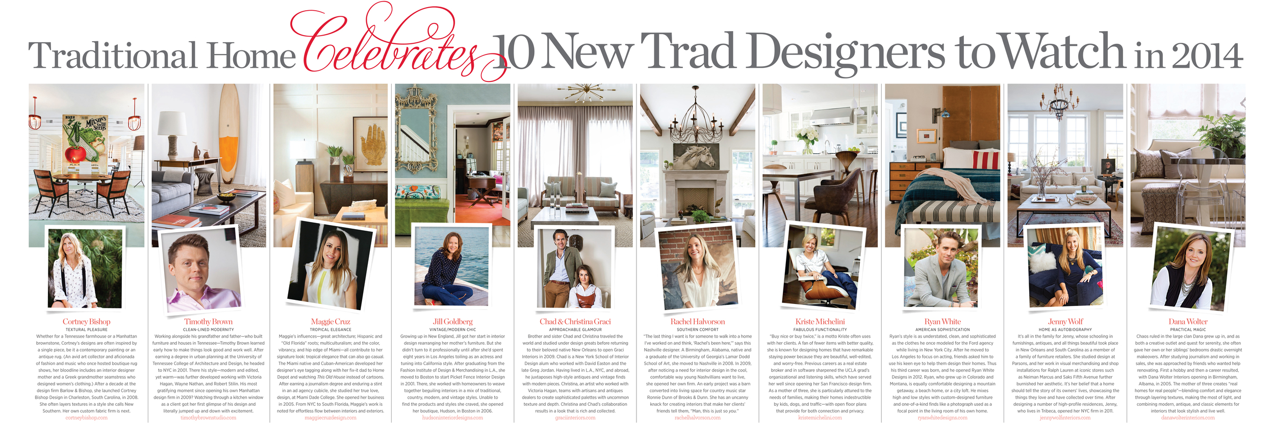 Traditional Home 10 new Trad Designers to watch in 2014