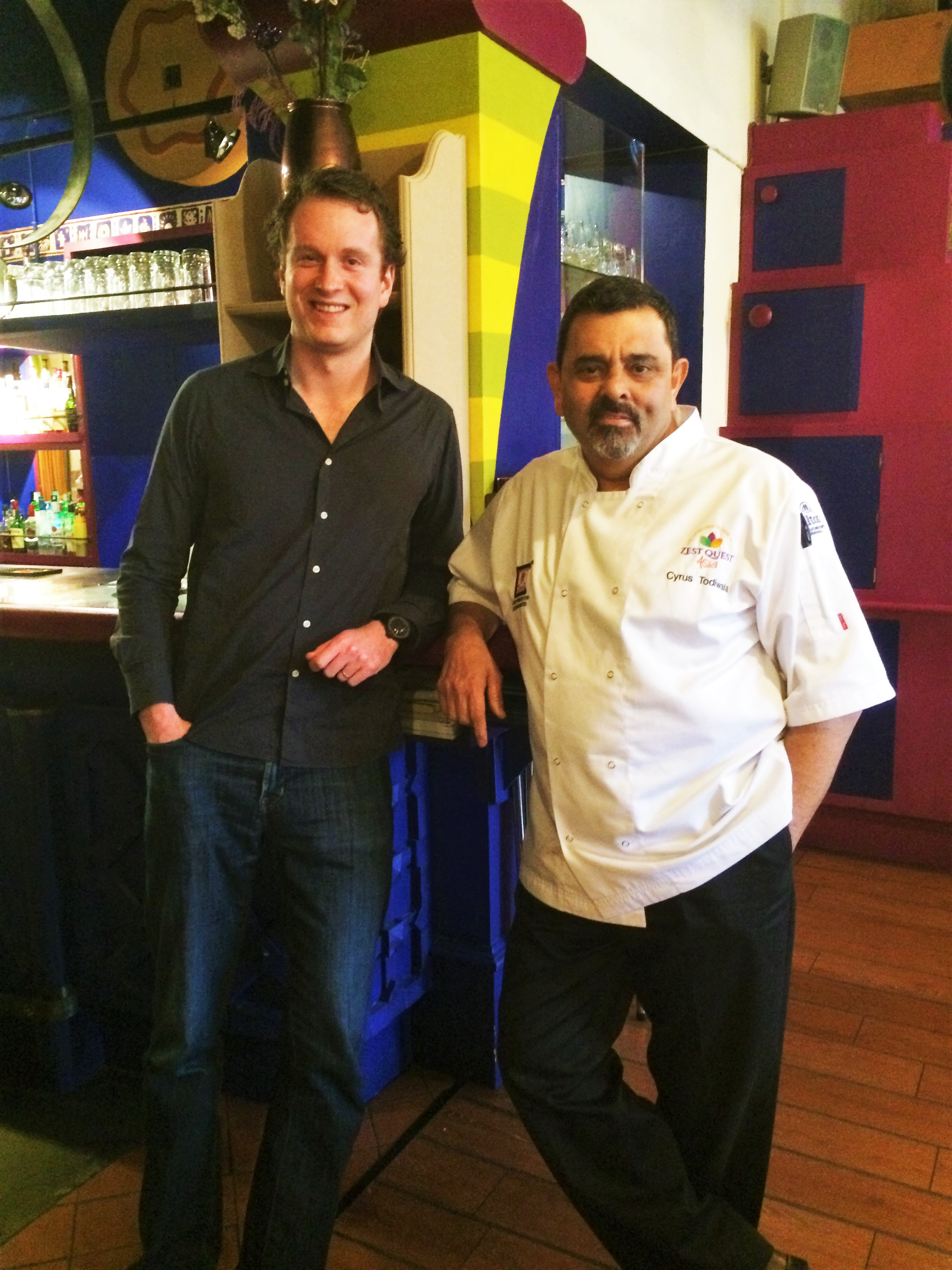 Epicure Found Chris O'Leary and Chef Cyrus Todiwala of Café Spice Namasté