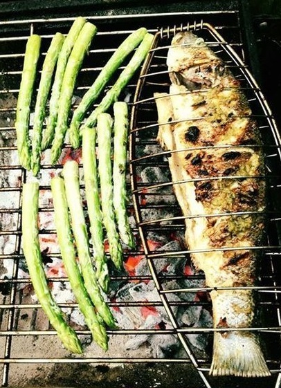 Grilled Fish and Asparagus