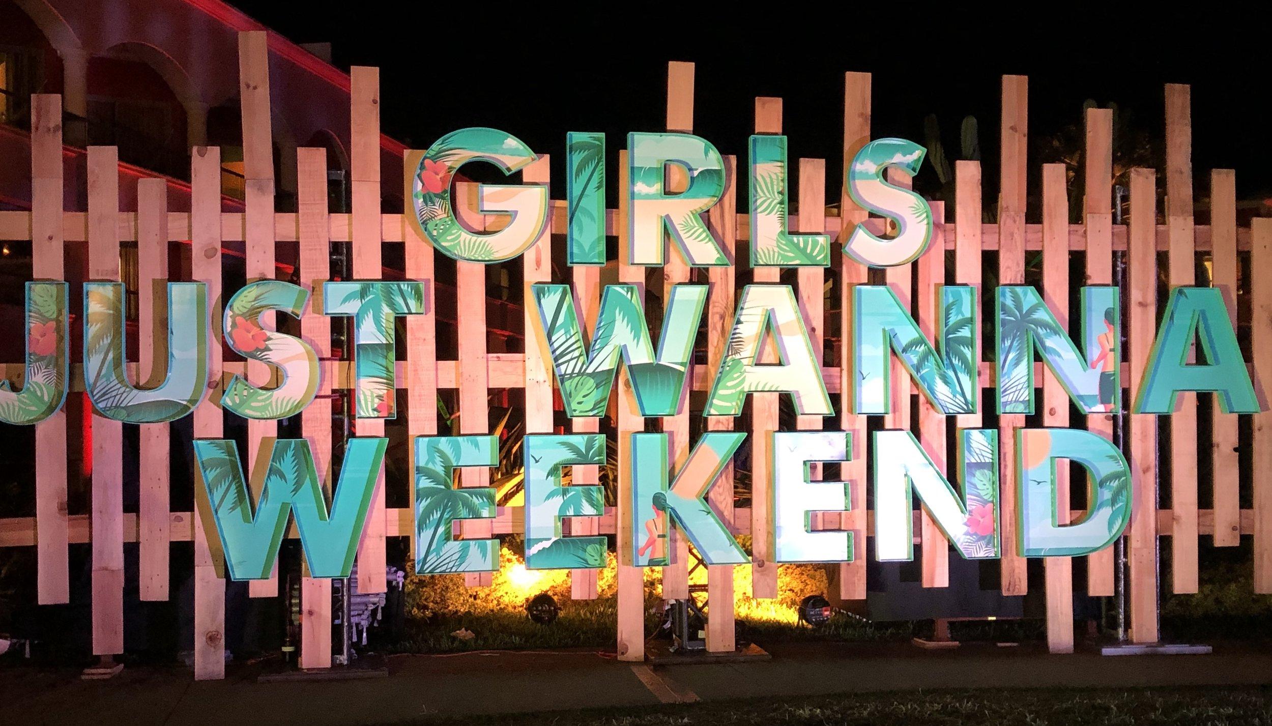 Brandi Carlile Girls Just Wanna Weekend sign