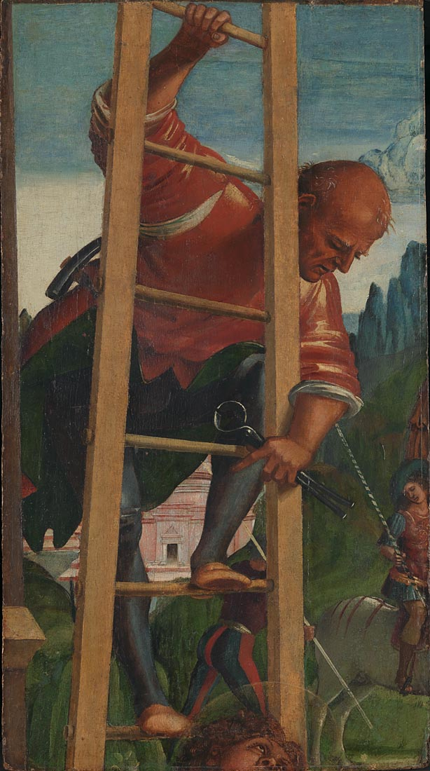 luca signorelli, man on a ladder
