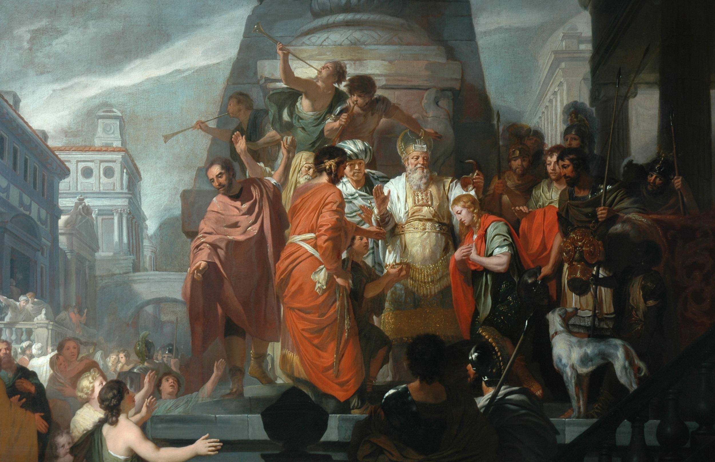 gerard de lairesse, The anointing of solomon © cartwright hall art gallery, bradford