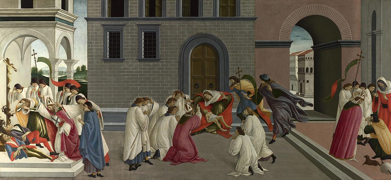 Botticelli, Three miracles of St Zenobius