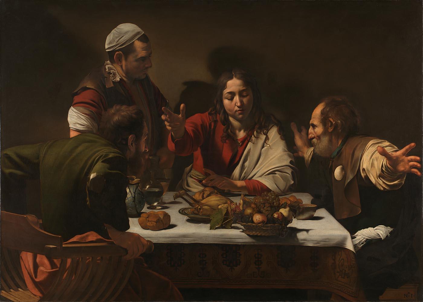 Michelangelo Merisi da Caravaggio, The Supper at Emmaus, 1601