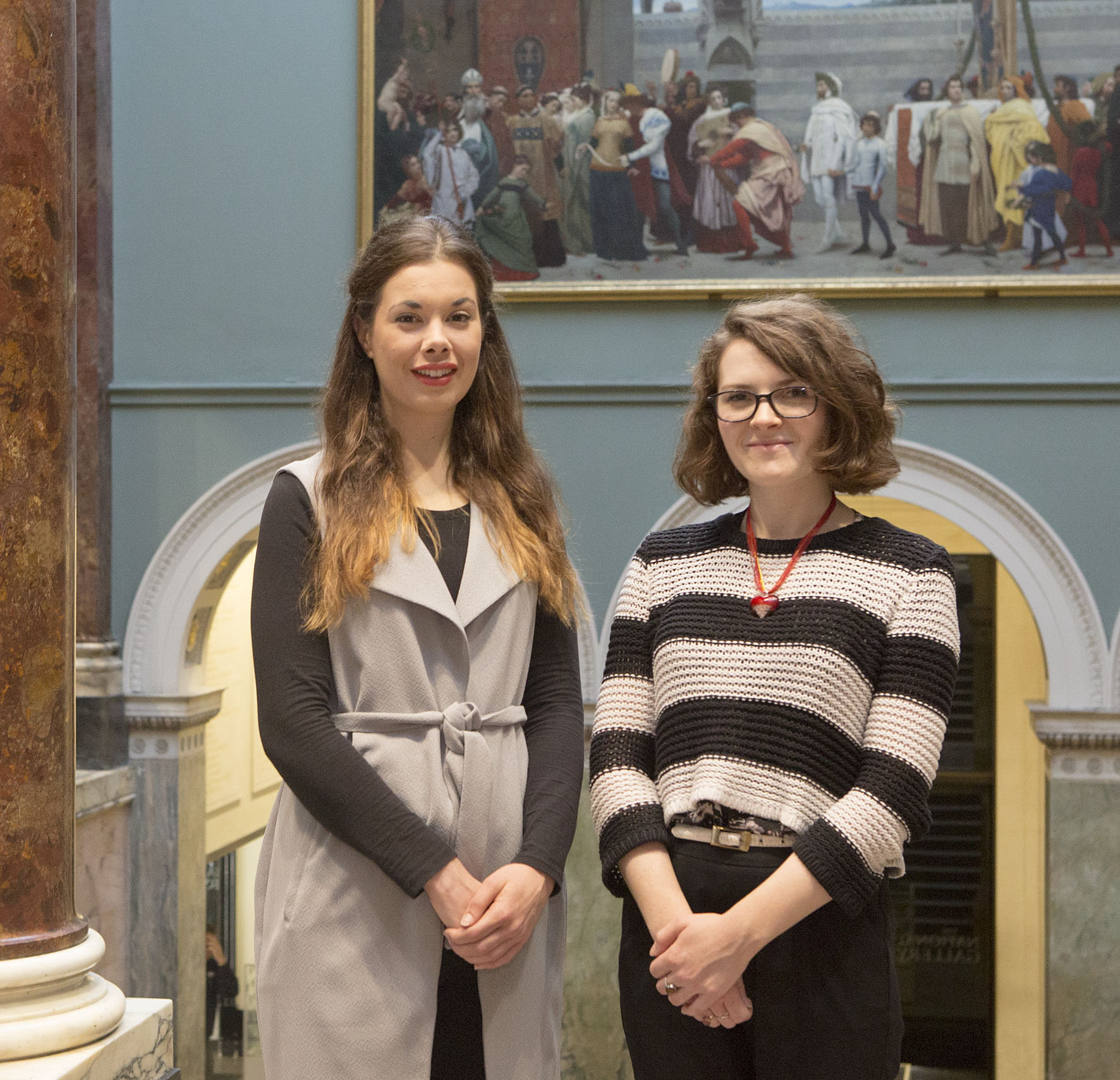 Our current National Gallery Curatorial Trainees, Lucy West and Sylvie Broussine