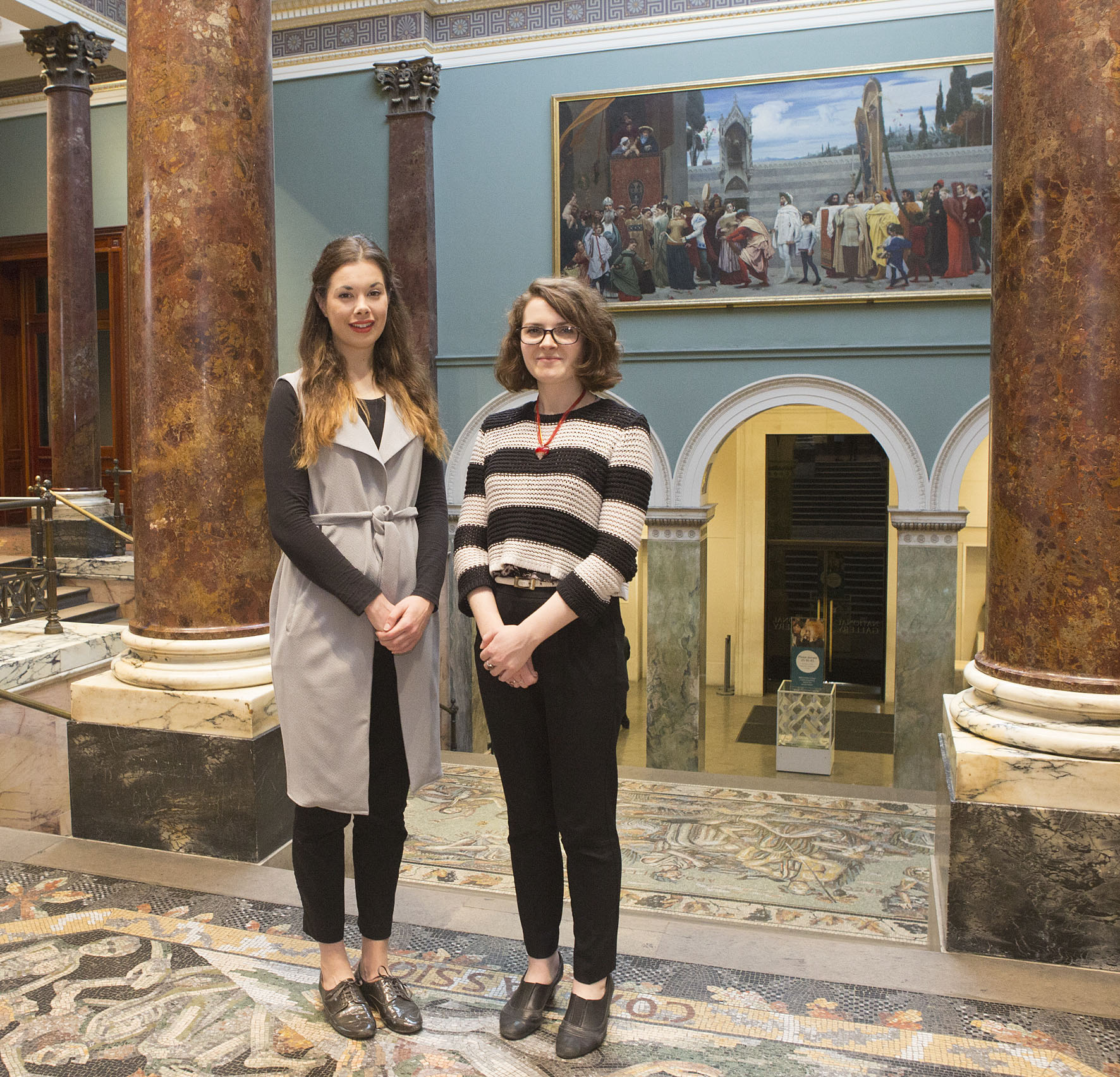 National Gallery Curatorial Trainees Lucy West and Sylvie Broussine