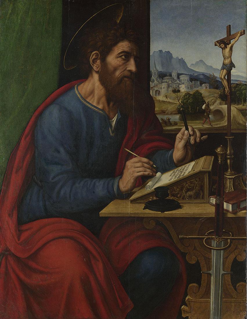 Pier Francesco Sacchi, Saint Paul Writing, 1520s © The National Gallery, London. Mond Bequest, 1924