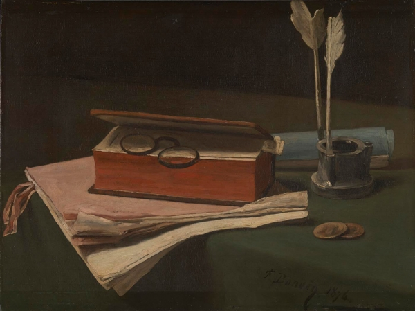 François Bonvin, Still Life with Book, Papers and Inkwell, © The National Gallery, London. Sir Hugh Lane Bequest, 1917