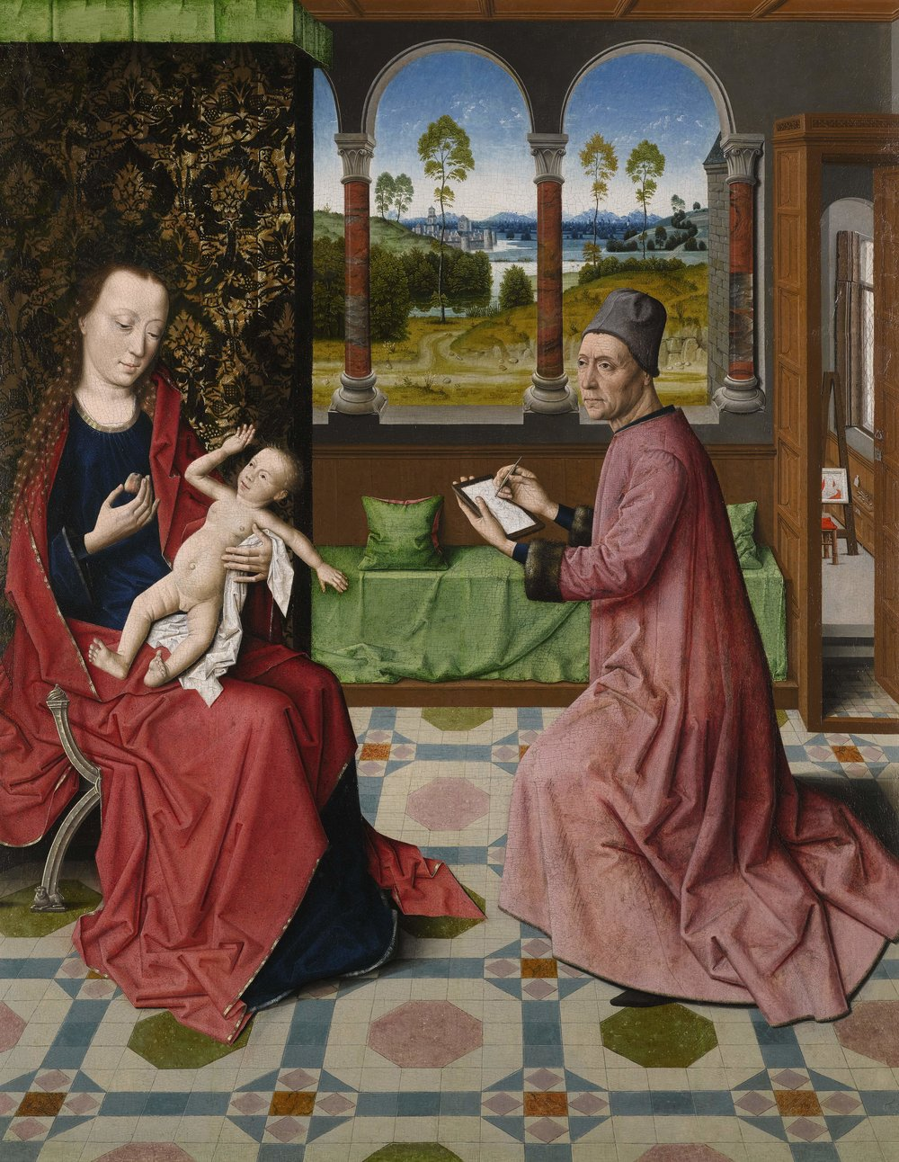 DIERIC BOUTS THE ELDER, ST LUKE DRAWING THE VIRGIN AND CHILD, C1440-1475 © THE BOWES MUSEUM