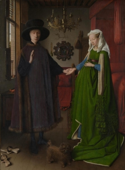 Jan van Eyck,  The Arnolfini Portrait , 1434 © The National Gallery