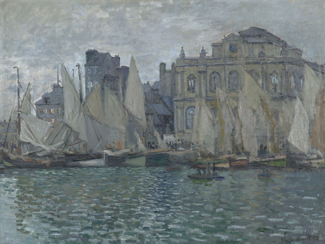 claude monet,  the museum at le havre , 1873. Bequeathed by Helena and Kenneth Levy, 1990© The National gallery