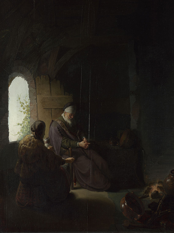 Rembrandt, Anna and the Blind Tobit , about 1630 ©The National Gallery