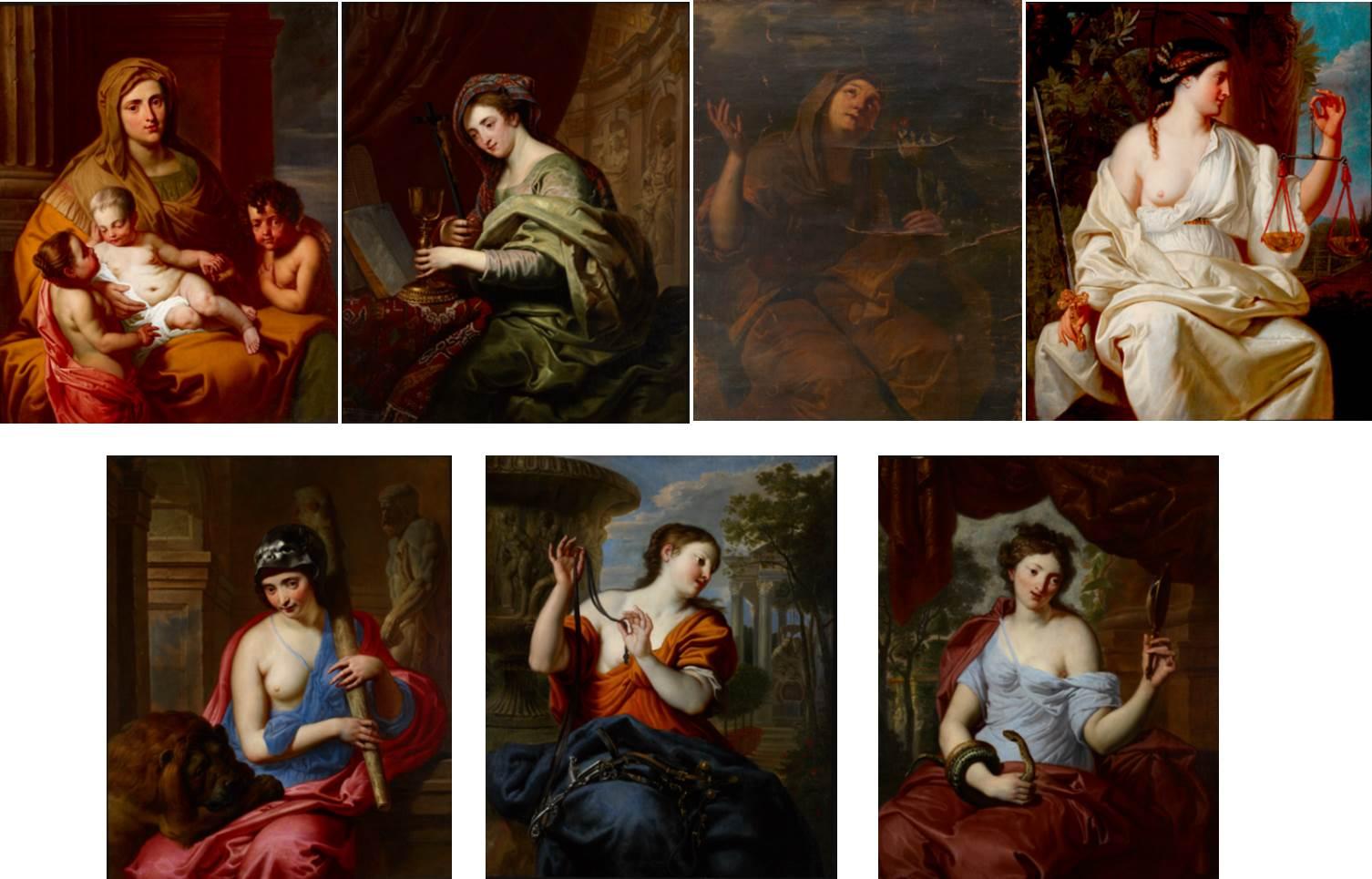 Erasmus Quellinus II and Workshop, The Seven Virtues, c. 1650-60, oil on canvas. © Ashmolean Museum, University of Oxford