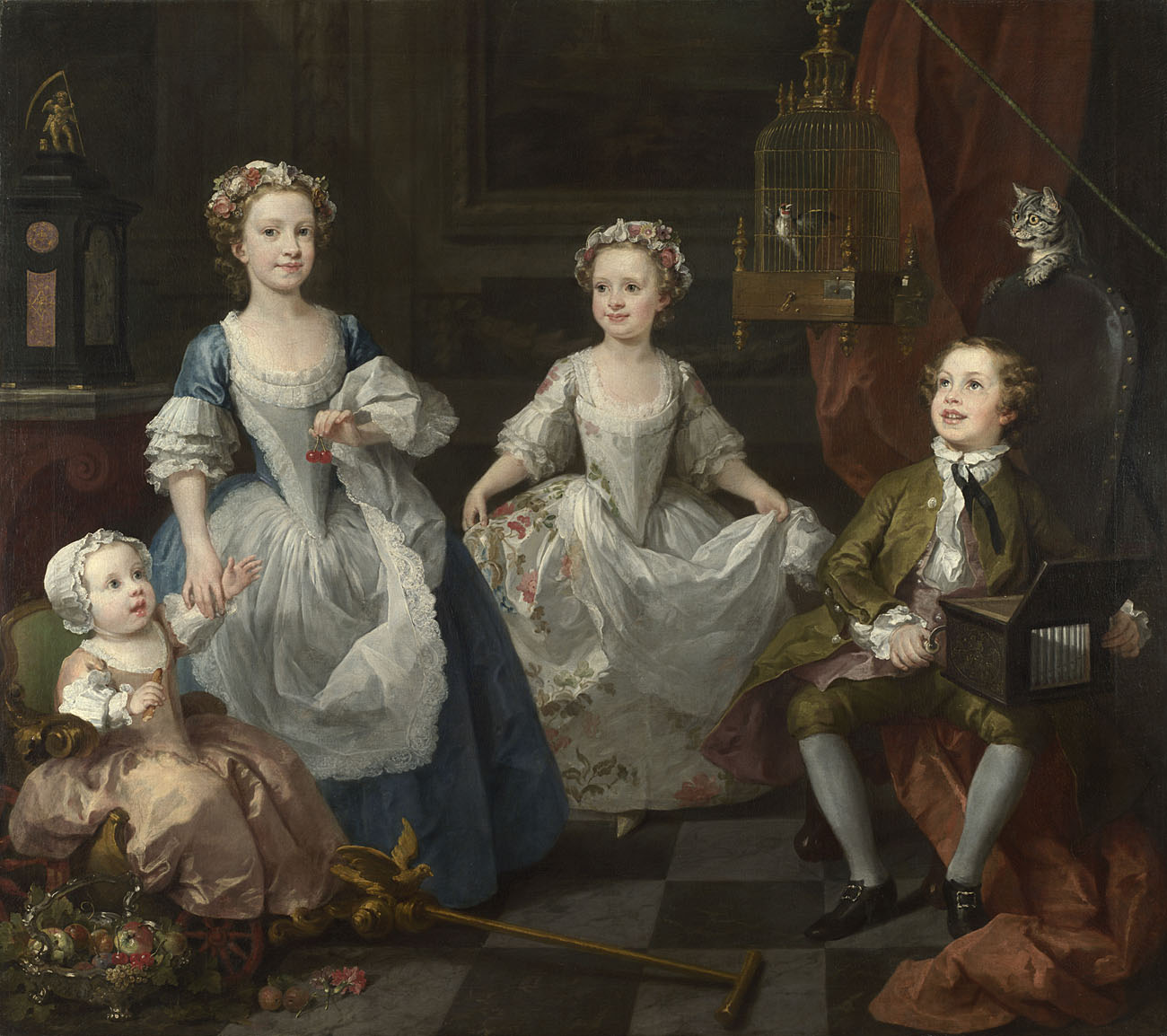 William Hogarth,  The Graham Children , 1742. Presented by Lord Duveen through the Art Fund, 1934 © The National Gallery, London