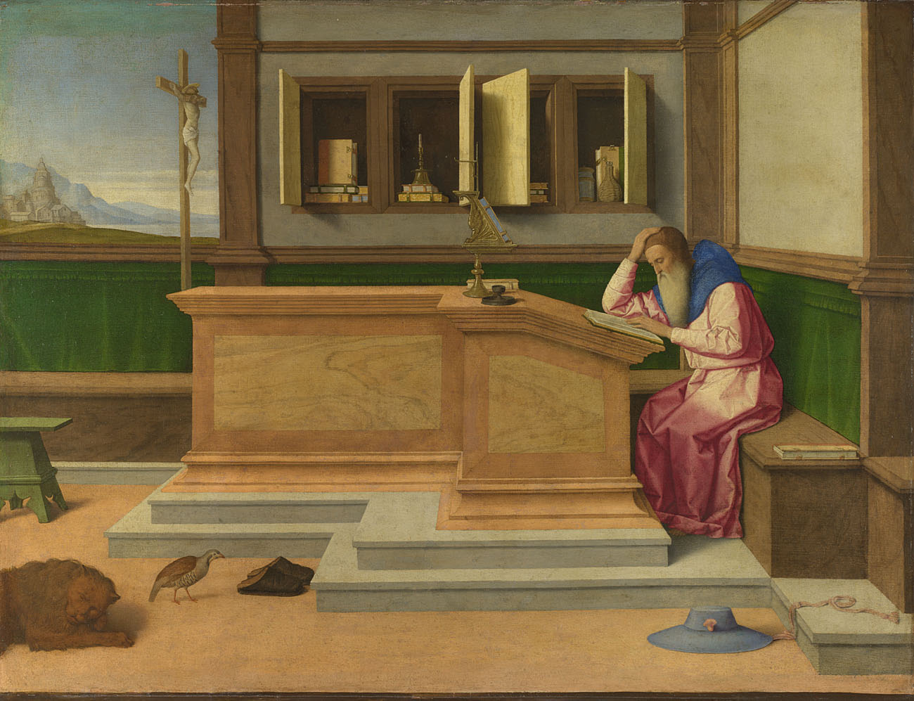 Vincenzo Catena,  St Jerome in his Study,  probably about 1510 © The National Gallery, London