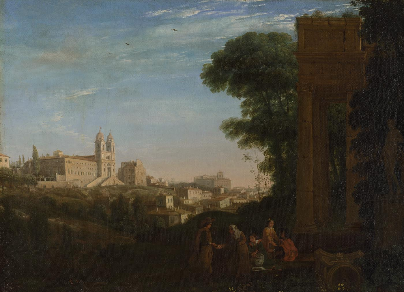 Claude,  A View in Rome , 1632, Bought, 1890 © NATIONAL GALLERY