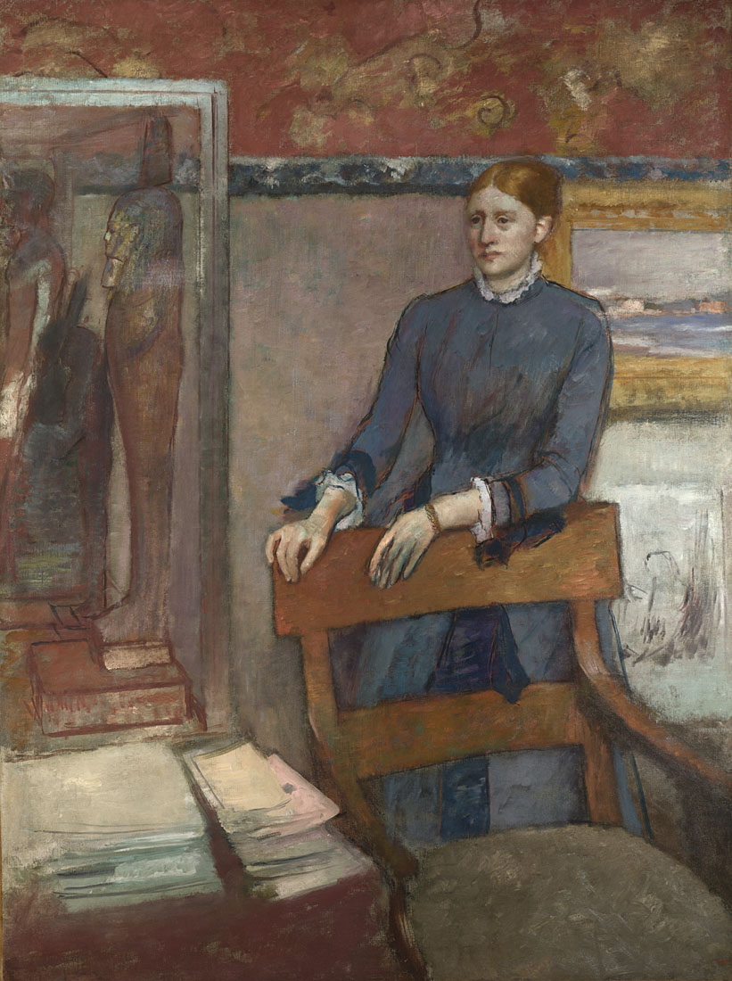Hilaire-Germain-Edgar Degas,  Hélène Rouart in her Father's Study,  1886 © THE NATIONAL GALLERY, LONDON