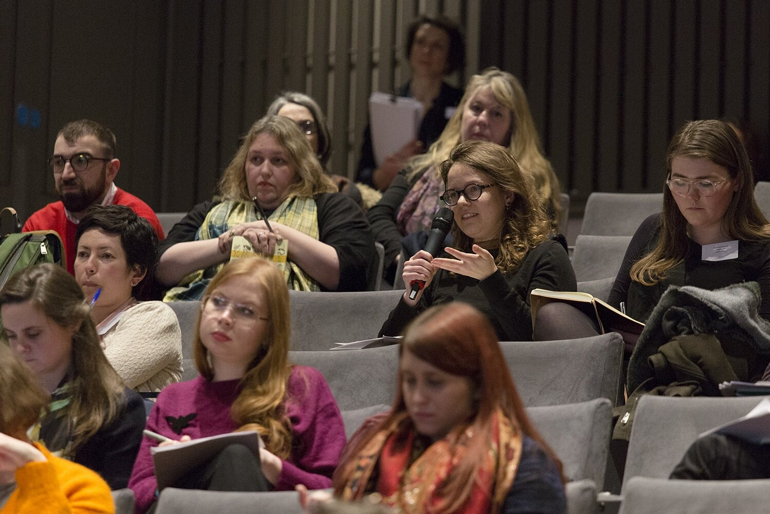 DELEGATES AT THE JOINT SSN CONFERENCE 'WHY EXHIBITIONS?', 21-22 FEB. 2018 © THE NATIONAL GALLERY