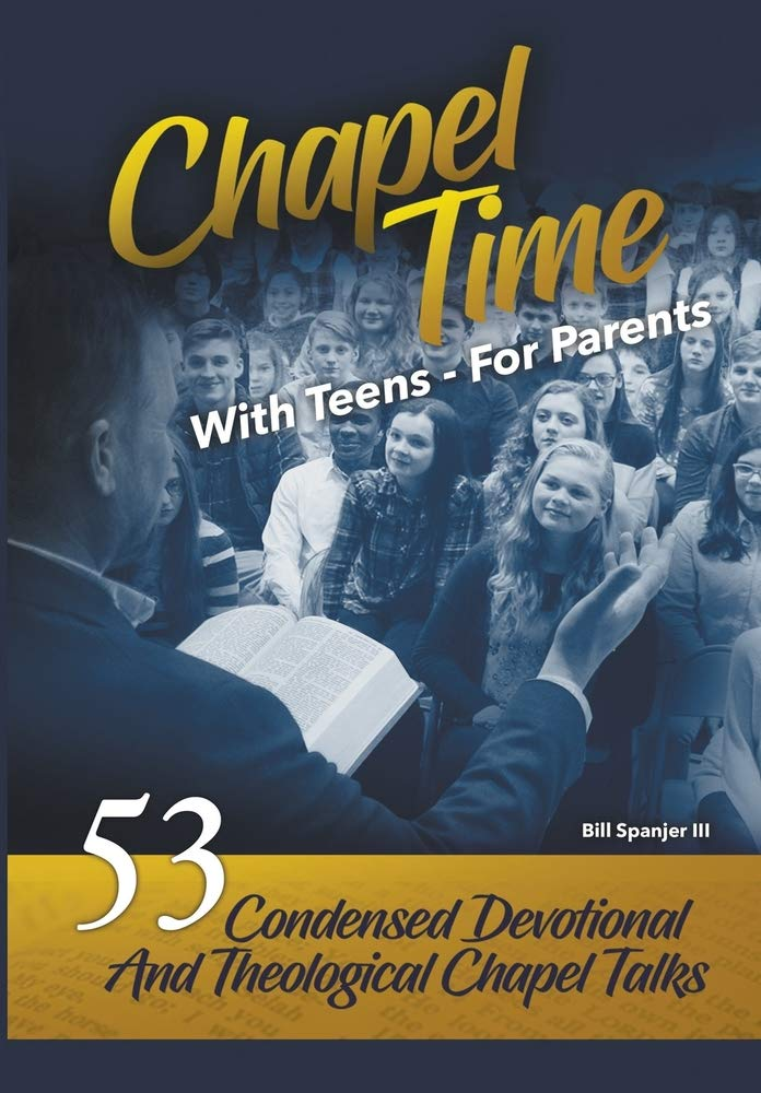 """""""This collection of short school chapel talks from coach spanjer distills a lifetime of wisdom, godliness, and gospel-formed ministry… these meditations are a timely call to discipleship not only for the students to whom they were delivered, but to all who seek to follow christ in our degraded culture. here is a trumpet which makes a clear sound in exhorting the church to greater fidelity in her witness. i commend this volume to you highly."""" - dr. kevin chiarot, westminister presbyterian church, pca  """"drawing upon his love for the master teacher and years of keen insight into the hearts and minds of young people, bill provides the young reader with a call to conviction, challenge and courageous action in their christian journey. in this day of meaningless living and meandering uncertainty about right and wron, the coach provides a no non-sense, daily game plan for """"keeping on keeping on"""" in the building of god's kingdom in one's life. chapel time - with teens, for parents is unique in that it provides realistic applications which are rooted in the good and rich earth of biblical truth."""" - dr. sandy outlar, lancaster bible college"""