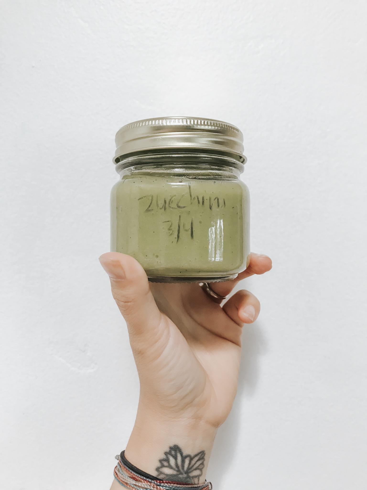 homemade zucchinipuree