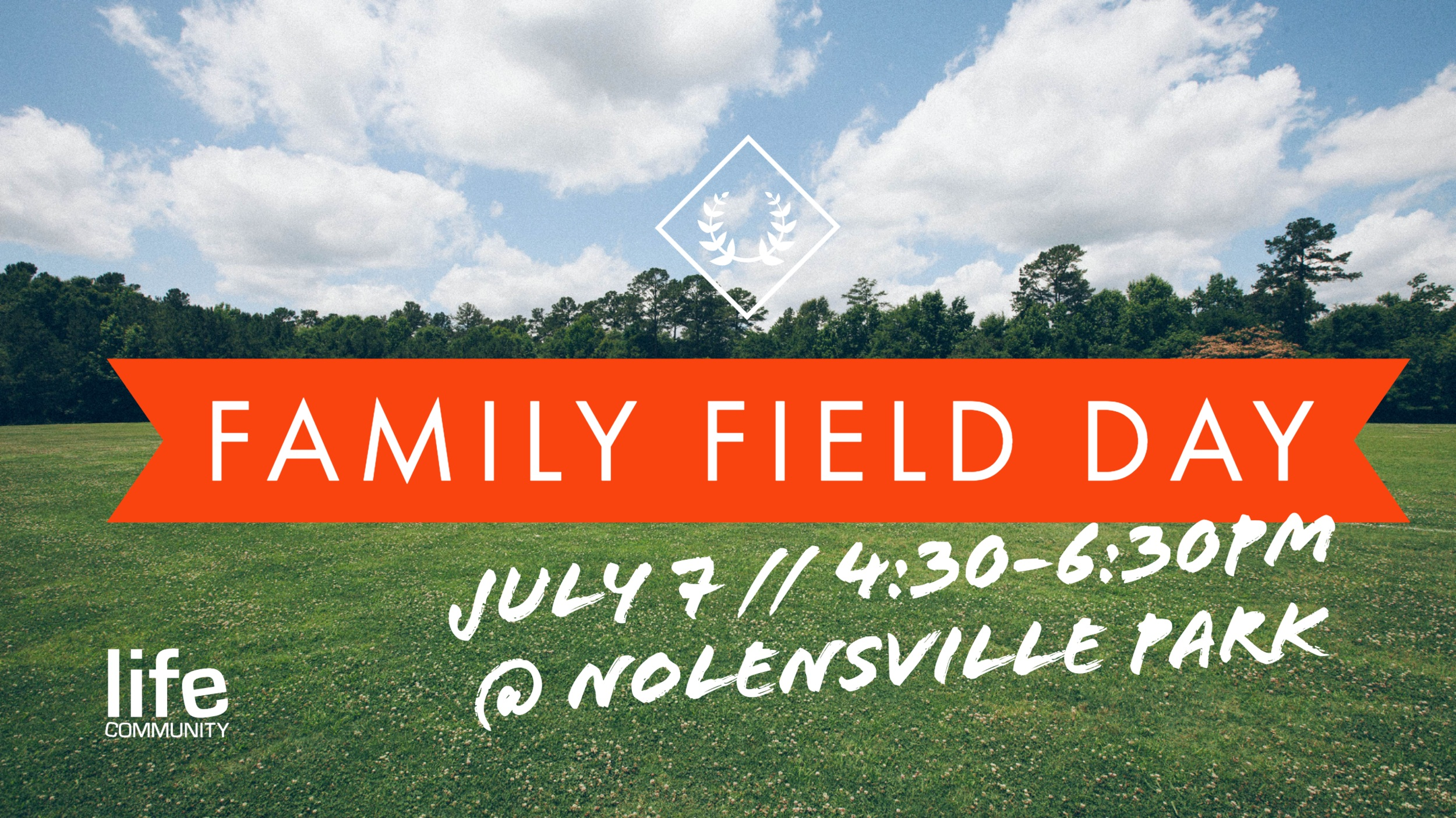 Join us at 4:30pm July 7th at the Nolensville park for our second annual Family Field Day. This is a great way for you to jump into community this summer!