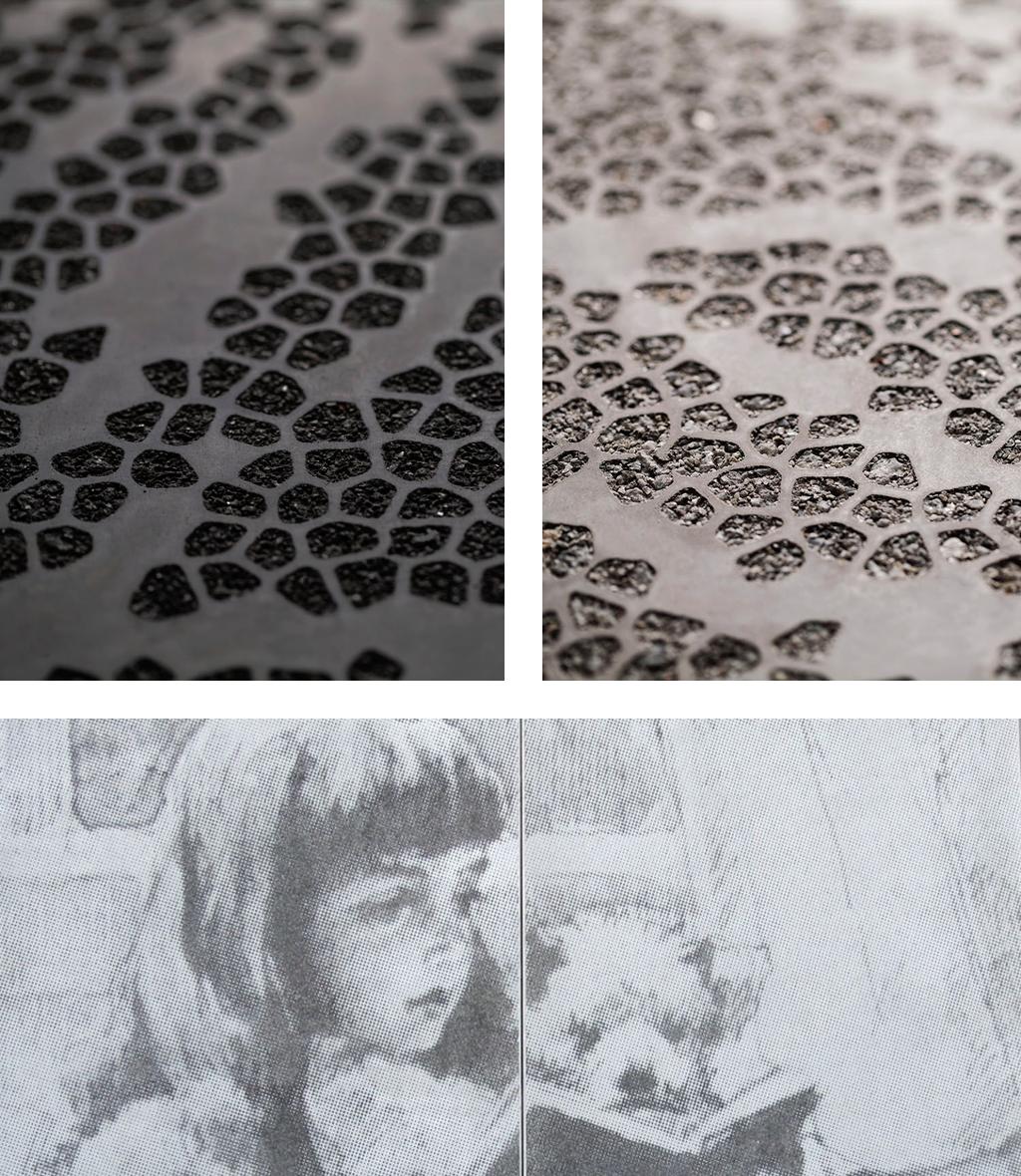 Graphic Concrete, Albert Edelfelt School - Ruhnau Clarke Architects
