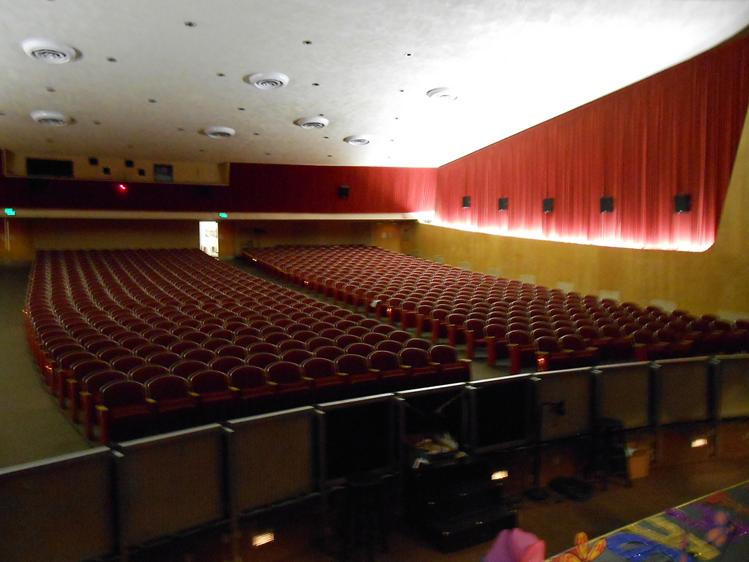 The former interior of the Palm Springs High School Auditorium.
