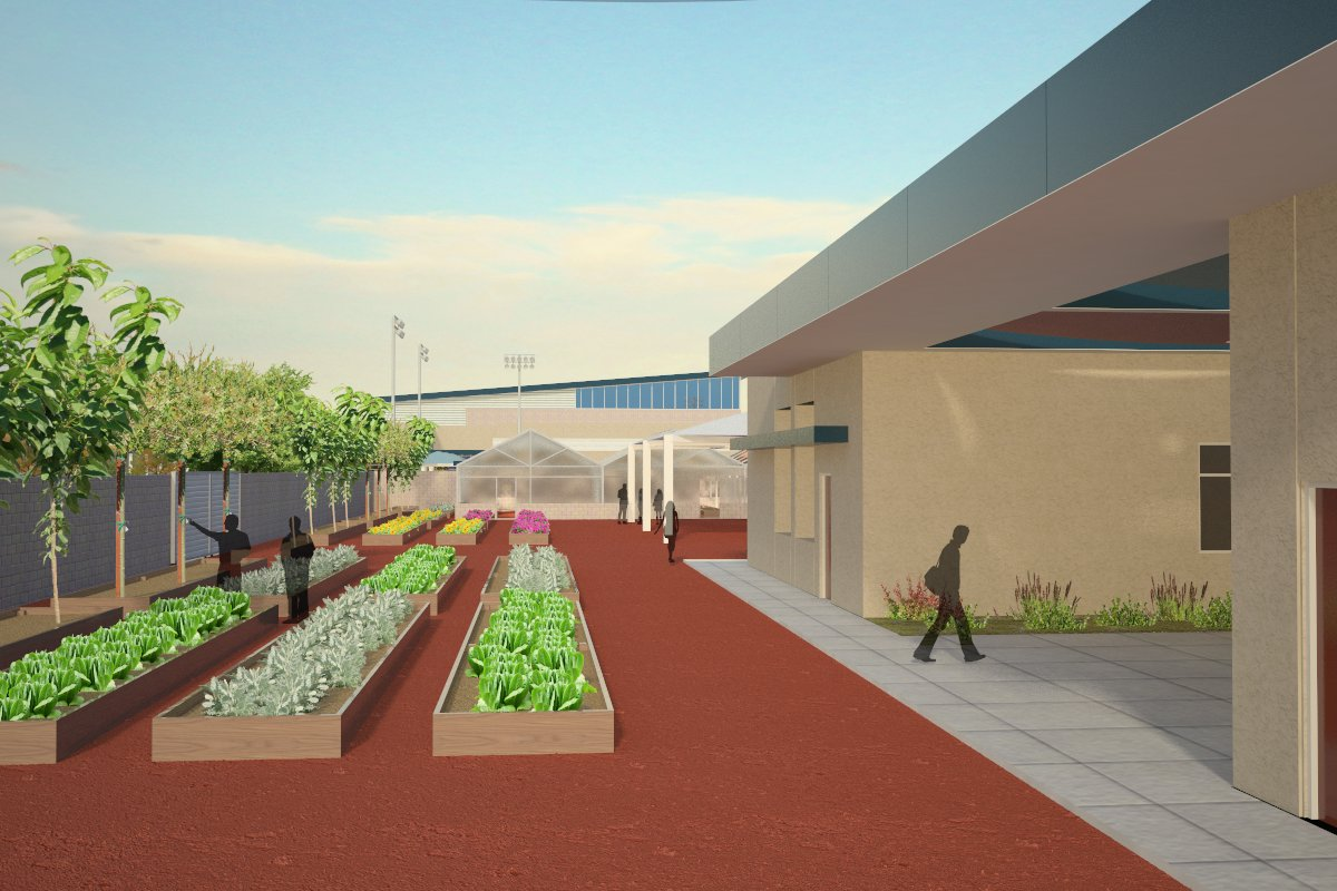 Indio High School  Desert Sands Unified School District Sector: Agriculture Pathway: Ornamental Horticulture Type: New Construction  Score: 148