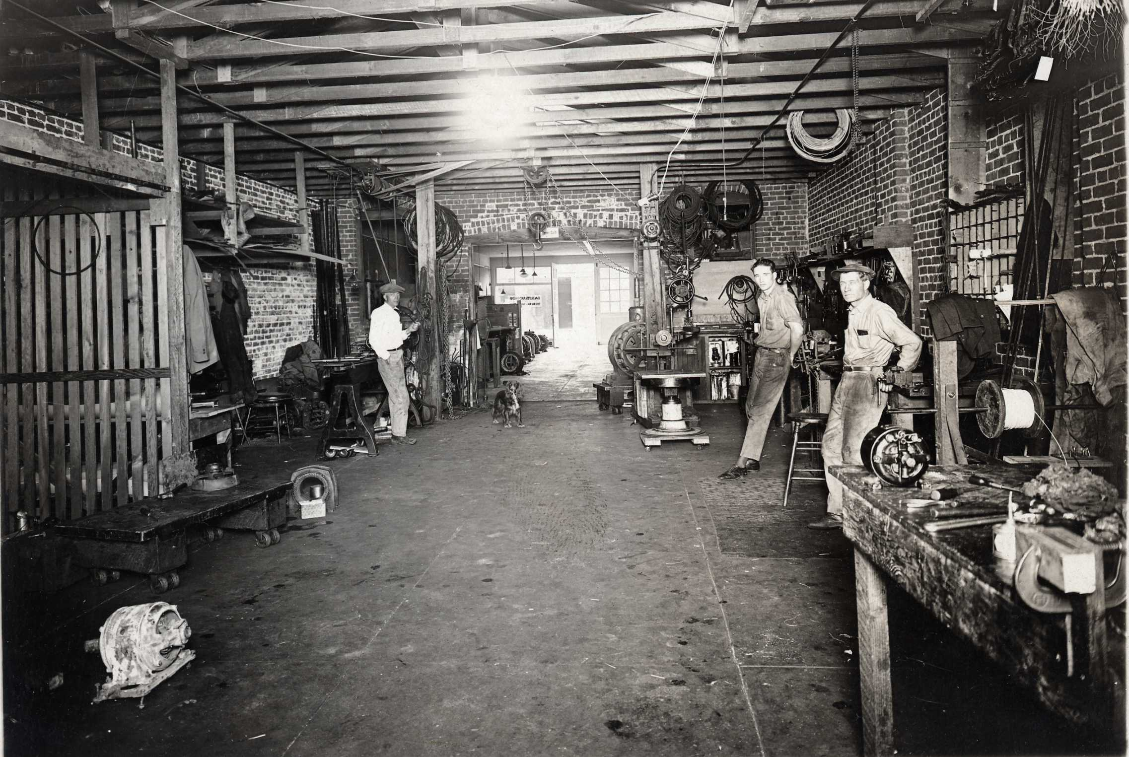 Backstrand Bros Motor Repair Shop--3777 Tenth St--1922--Clarence Backstrand at left   002.jpg