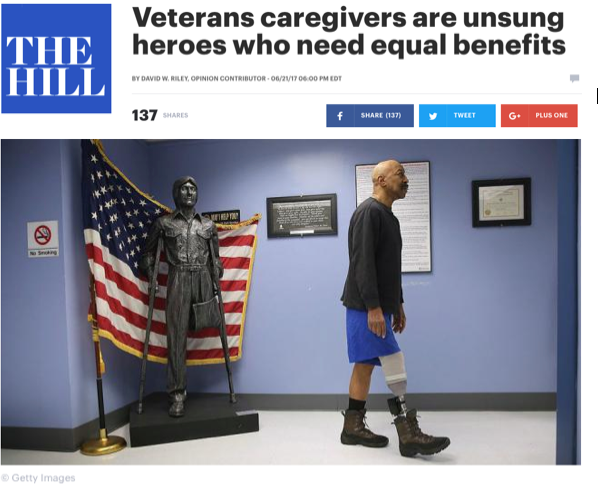 - Veterans caregivers are unsung heroes who need equal benefits (The Hill)
