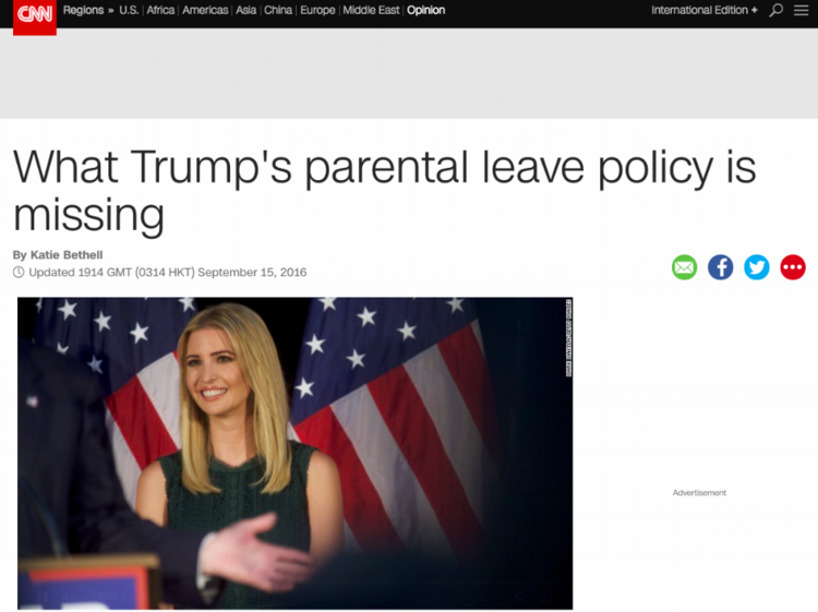 - What Trump's parental leave policy is missing (CNN)