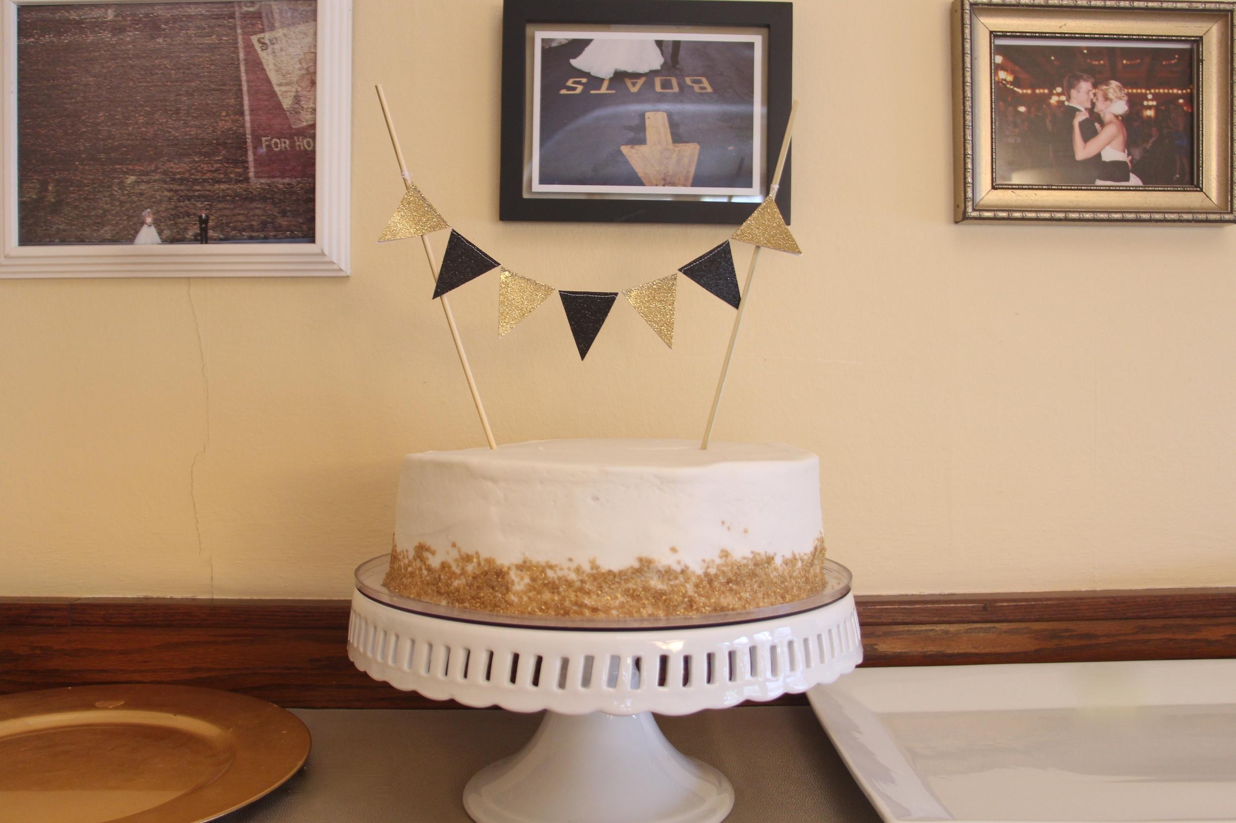 1920s birthday cake made by Kelli Sieplinga