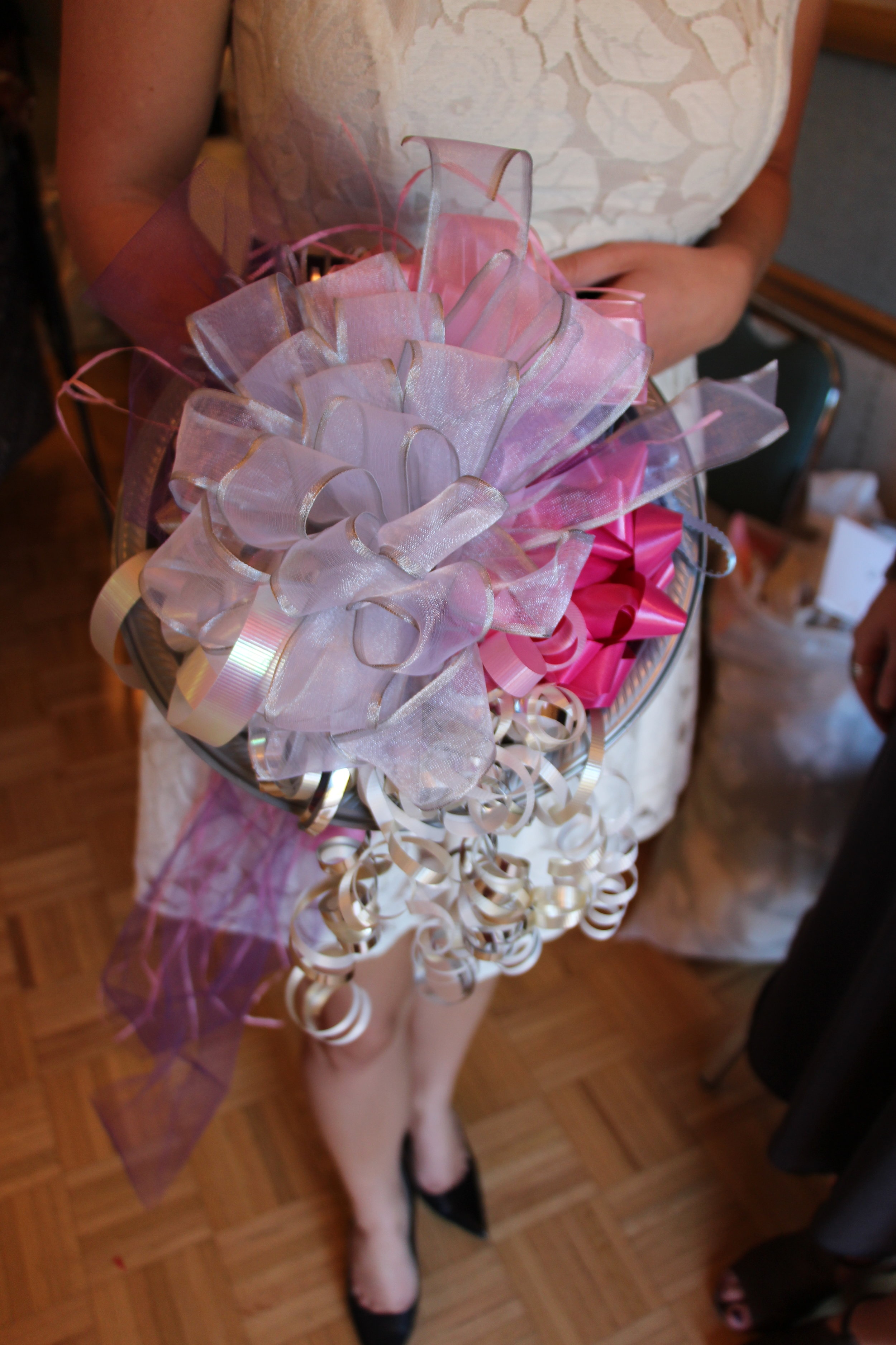 brunch and bubbly bridal shower bow bouquet by Mindy Larsen