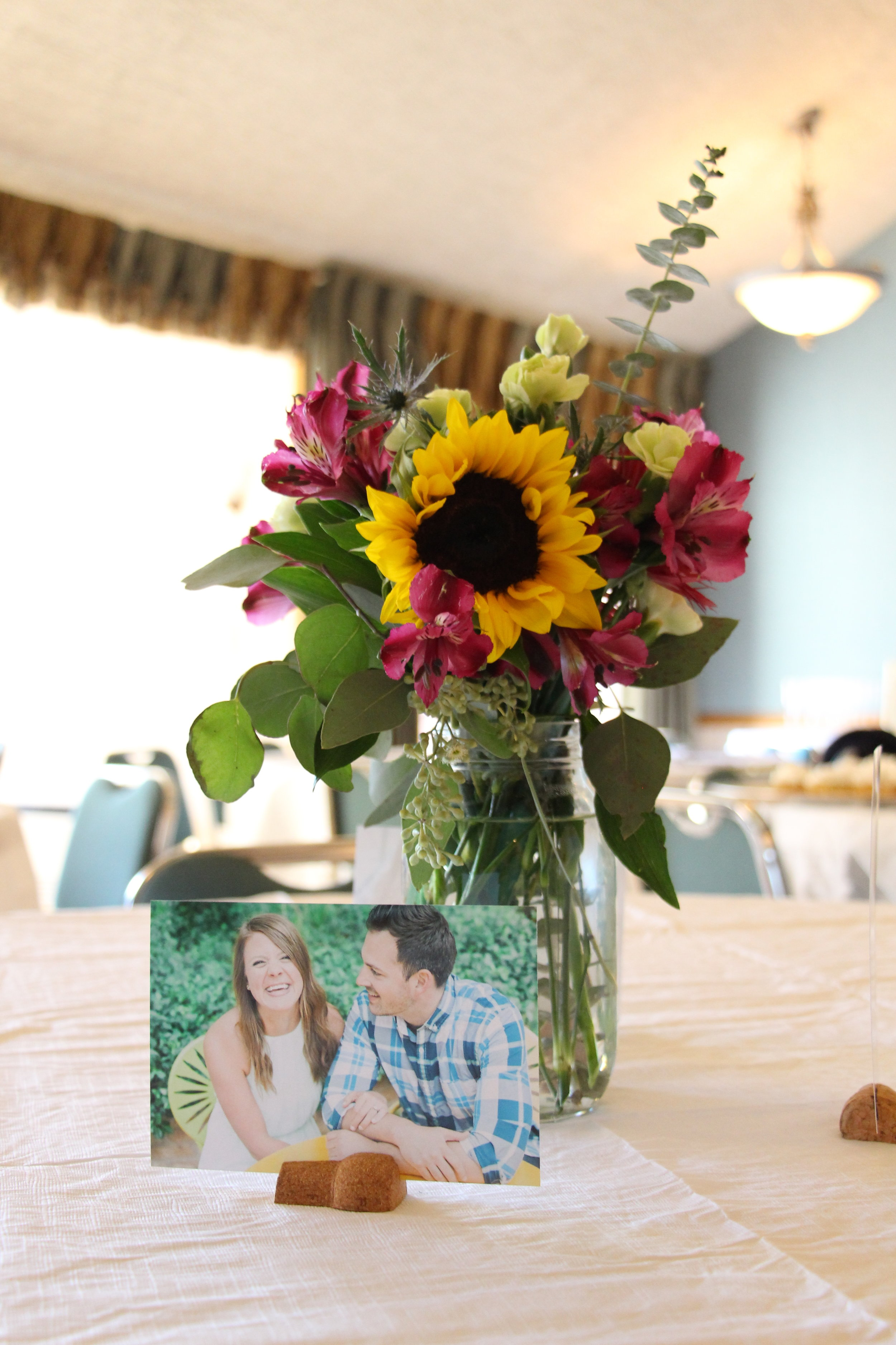 brunch and bubbly bridal shower centerpieces by Mindy Larsen