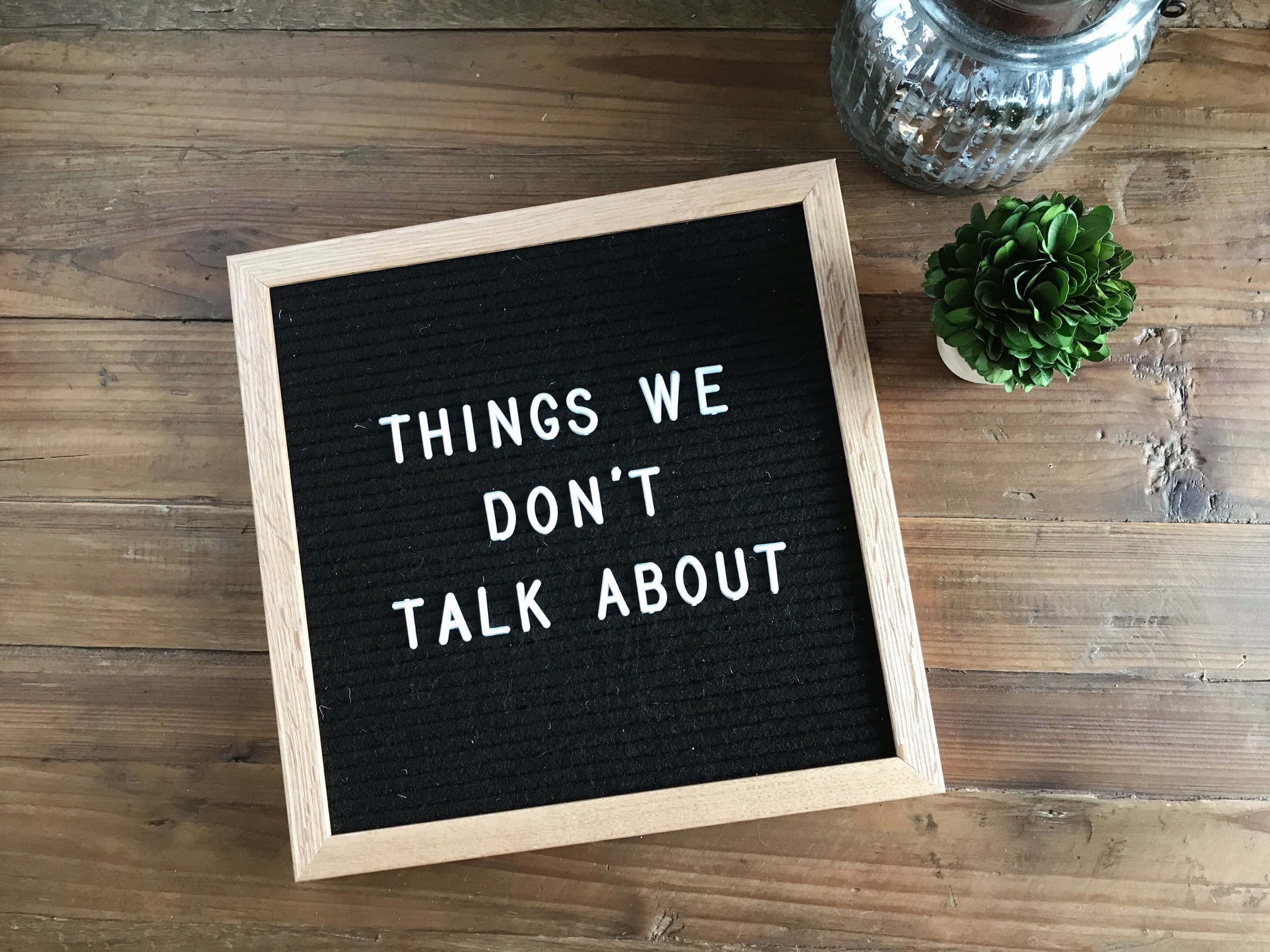 things we don't talk about by Mindy Larsen