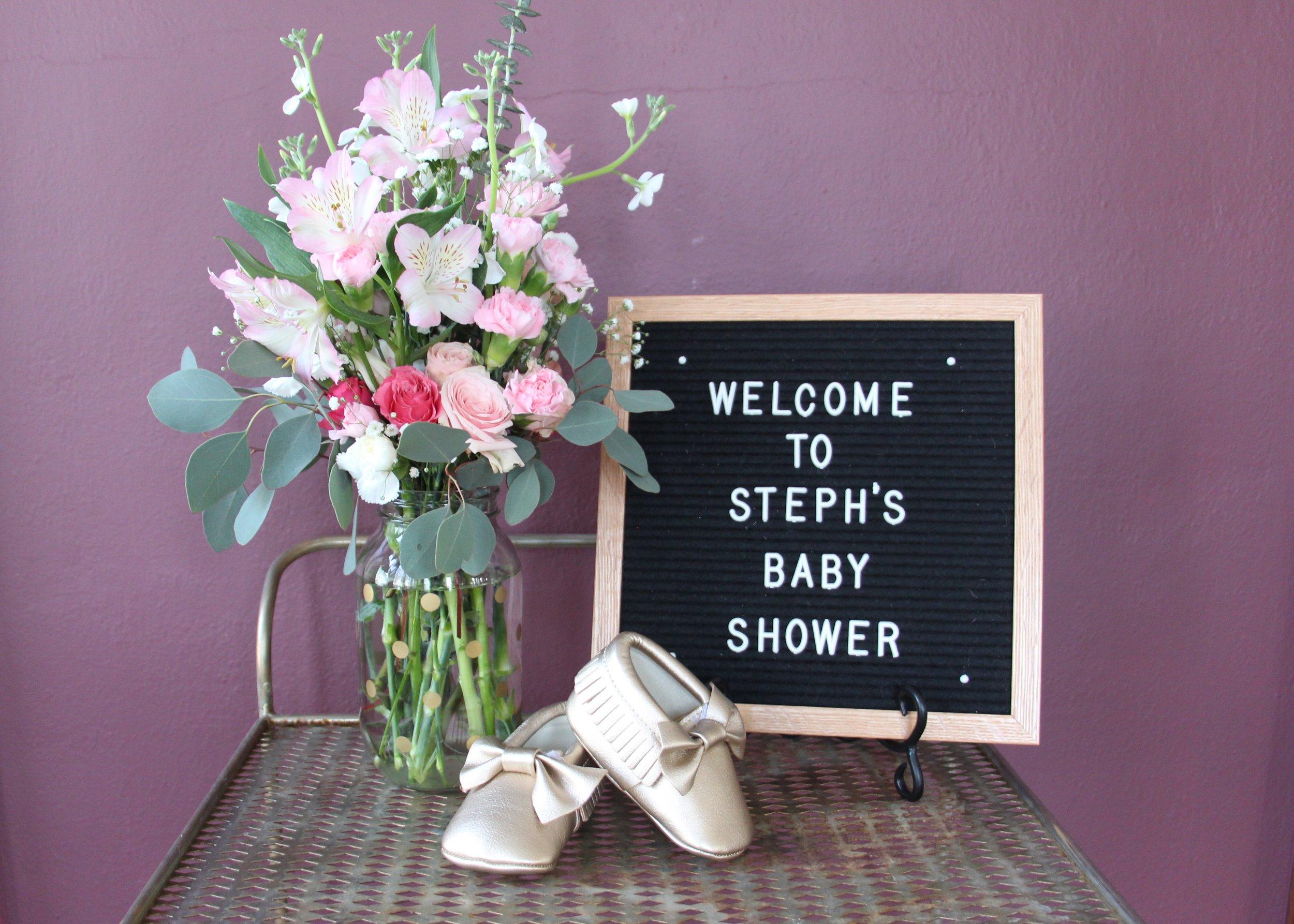 elegant baby shower _ Mindy Larsen