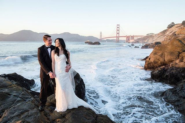 It's your wedding dress, you should wear it more than once.  Sunset #trashthedress photo shoot.