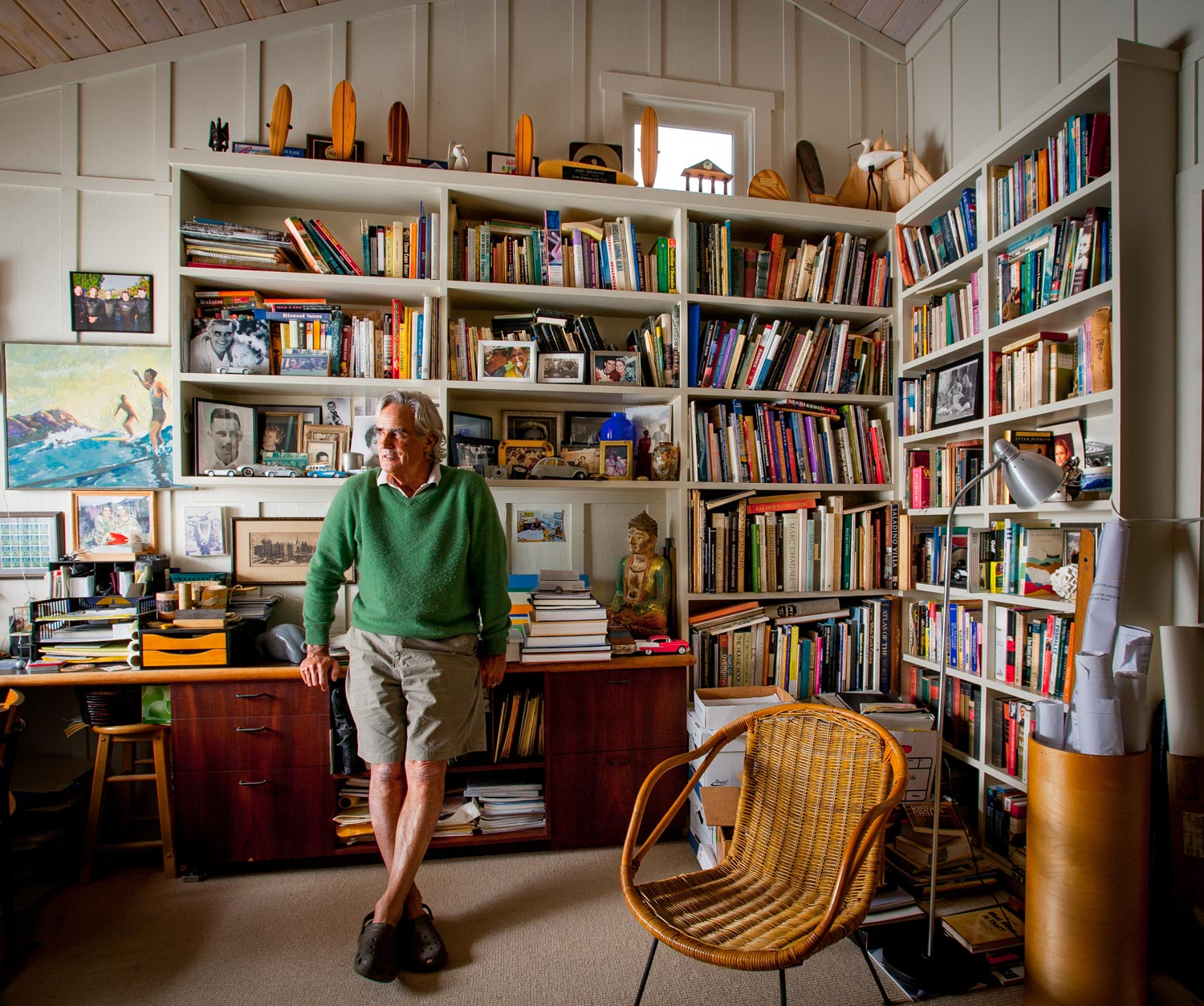 A man in his study