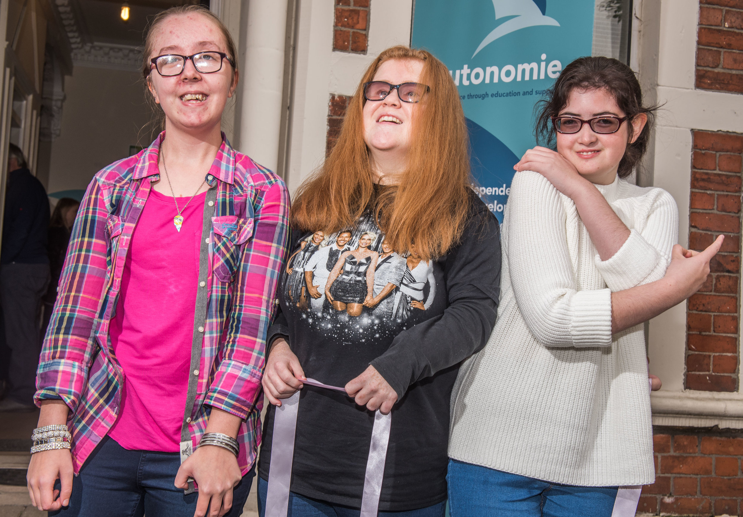 Charity Autonomie receives over £300k Lottery Boost to support disabled young people in Greater Belfast Area. Pictured L-R Niamh Quinn (20) Megan Coates (19) and Robyn Elliott (17).jpg