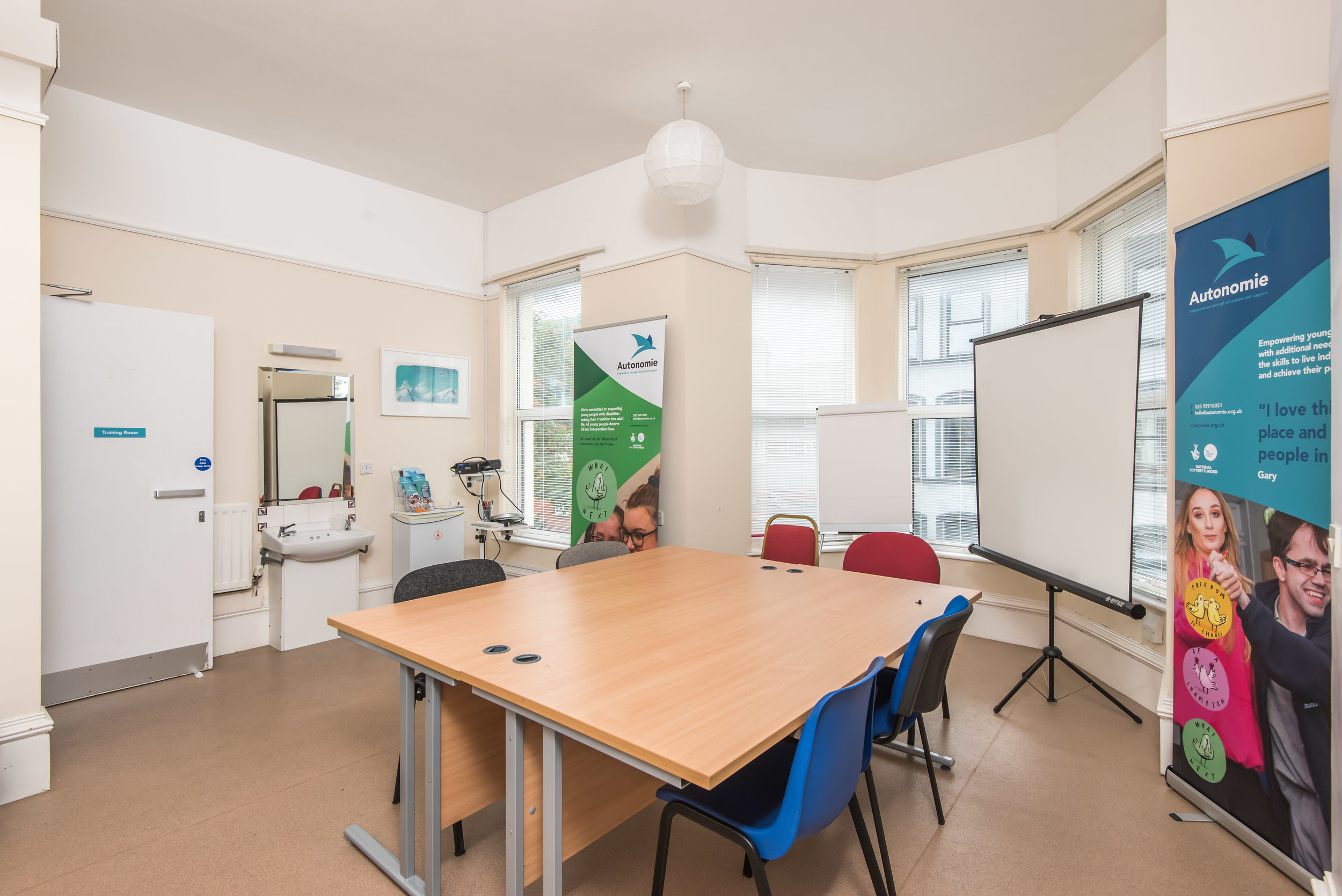 Training room at Lilac House -