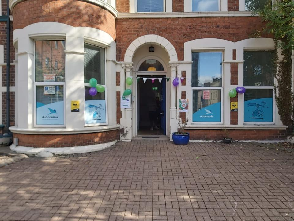 Buntings and balloons decorate Lilac House (Linked Independent Living and Advice Centre) for 'World's Biggest Coffee Morning' event on Saturday 28 September 2019.