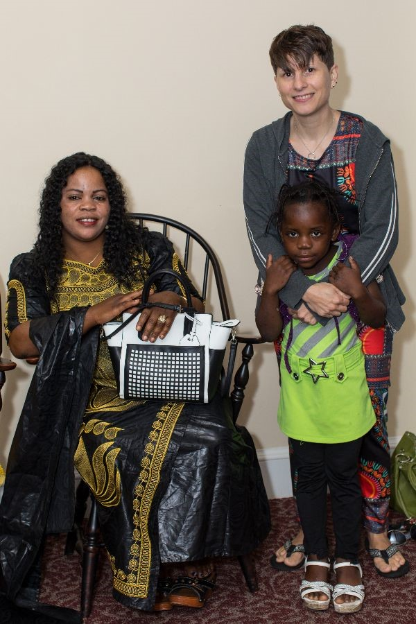 Nyasa and her daughter Maria with member Darla Esh