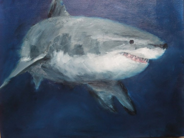 What Lurks Beneath, Oil on Canvas, 24 x 20, SOLD