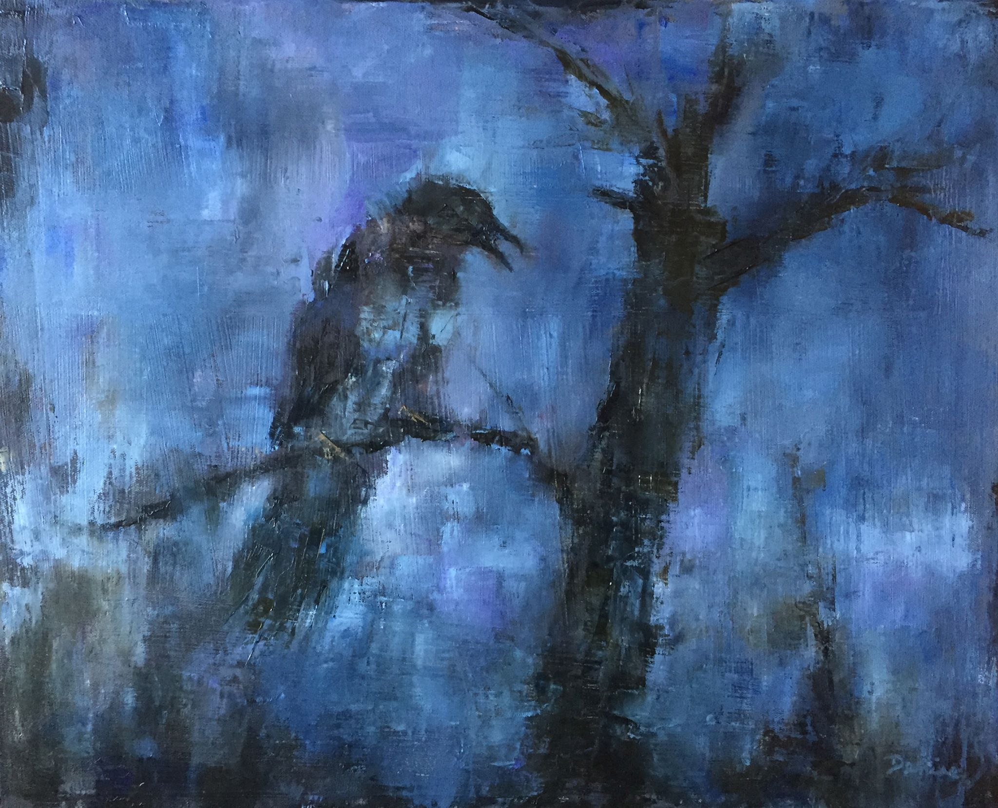 The Raven, Oil on Canvas, 16 x 20